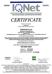 3B - Certificate ISO 9001 (IQnet)